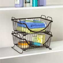 Ashley Bronze Stackable Basket Tray