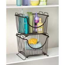 Ashley Bronze Large Stackable Pantry Basket