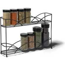 Black Countertop 2 Tier Spice Rack