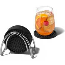 Chrome St Louis Coaster Container