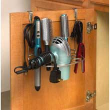 myBella Satin Nickel PC Over the Cabinet Deluxe Shapes Styling Rack