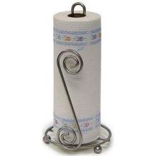 Satin Nickel Scroll Paper Towel Holder