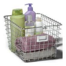 Chrome Small Storage Basket