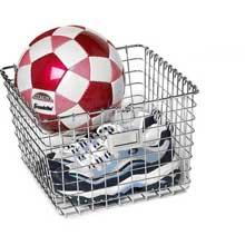 Chrome Medium Storage Basket