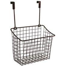 Bronze Over the Cabinet Large Grid Basket