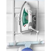 White Over The Door Iron And Ironing Board Holder