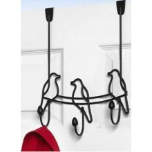 Black Tweet Over the Door 3 Hook Rack