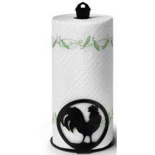 Black Rooster Paper Towel Holder