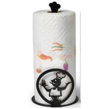 Black Chef Paper Towel Holder