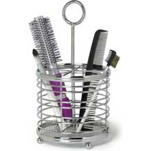 Contempo Chrome Hair and Beauty Accessory Caddy