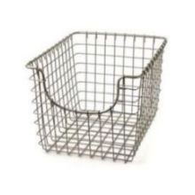Satin Nickel PC Small Scoop Basket