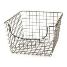 Satin Nickel PC Medium Scoop Basket