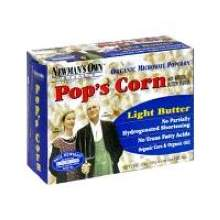 Newmans Own Organic Light Butter Microwave Popcorn 3 Ounce