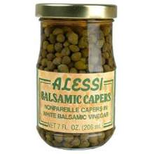 Alessi Capers in Balsamic Vinegar 7 Ounce