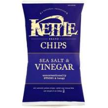 Kettles Vinegar and Sea Salt Potato Chips 9 Ounce
