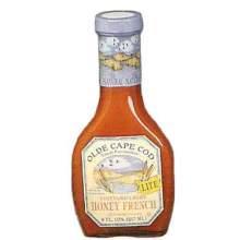 Olde Cape Lite Honey French Dressing 8 Ounce
