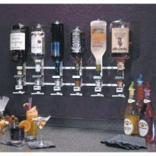 Precision Pours Wall Mount Complete Rack and Pour Units with Non Metered Head 6 Bottles