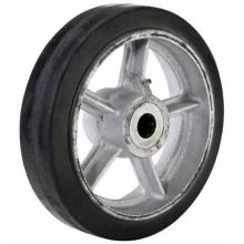 HB Series Cast Iron Center Moldon Rubber Wheel - 8 inch Diameter 600 Pound Capacity