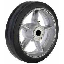 Part Number 108839 Cast Iron Center Moldon Rubber Wheel - 6 inch Diameter 400 Pound Capacity
