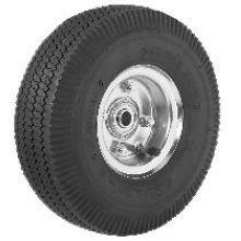 Steel Offset Hub Wheel PWT 10 x 3.5 inch Pneumatic Wide Tread Tire