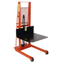 Wesco ESPL-80-3032 Series Economy Line Large Platform Model Hydraulic Stacker - 80 inch Lift Height