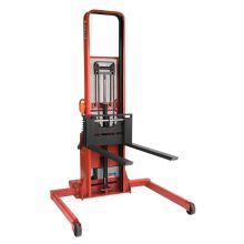 Wesco PASFL-76-42-3550S-2K Series Adjustable Fork Model Powered Stacker 76 in Lift Height 24 in Load Center