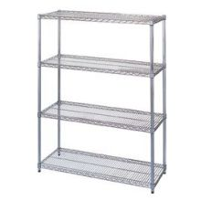 Wesco Chrome-Plated Wire Shelving Starter Unit - 18 x 36 x 63 inch Size
