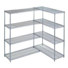 Add-On Kit for Wesco Chrome-Plated Wire Shelving 18 x 36 x 63 inch Size