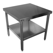 SSP Inc Stainless Steel NSF Mixer Stand with Galvanized Steel Legs and Undershelf 24 x 30 x 24 inch