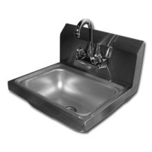 SSP Inc Stainless Steel Economy NSF Hand Sink - 5 inch Deep 14 x 16.5 inch