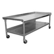 SSP Inc Stainless Steel SE Series NSF Equipment Stand with Stainless Steel Undershelf 30 x 72 x 24 inch