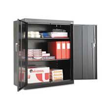 Alera Assembled 42 inch High Storage Cabinet w/Adjustable Shelves 36w x 18d Black