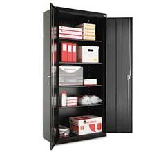 Alera Assembled 78 inch High Storage Cabinet w/Adjustable Shelves 36w x 18d Black