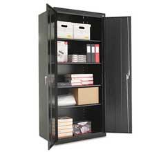 Alera Assembled 78 inch High Storage Cabinet w/Adjustable Shelves 36w x 24d Black