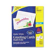 Avery Half Fold Greeting Cards Inkjet 5 1 2 X 8