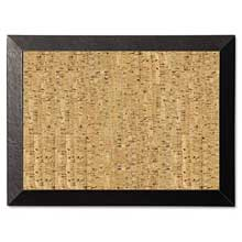 MasterVision Natural Cork Bulletin Board 24x18 Cork/Black