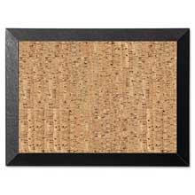 MasterVision Natural Cork Bulletin Board 36x24 Cork/Black