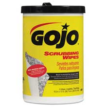 GOJO Scrubbing Towels Hand Cleaning Fresh Citrus10 1/2x12 1/4 72/Canister6/Crtn