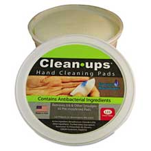 LEE Clean-Ups Hand Cleaning Pads Cloth 3 inch dia 60/Tub