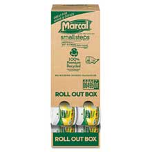 Marcal 100% Recycled Roll-out Convenience-Pack Bath Tissue 504 Sheets 48 Rolls/Carton