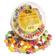 Office Snax Jelly Beans Assorted Flavors 2 lb Tub