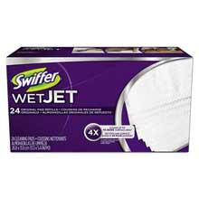 Swiffer WetJet System Refill Cloths 11.3 inch x 5.4 inch White 24/Box 4/Ctn