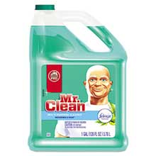 Mr. Clean Multipurpose Cleaning Solution with Febreze 128 oz Bottle Meadows and Rain Scent 23124CT