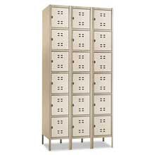 Safco Three-Column Box Locker 36w x 18d x 78h Two-Tone Tan