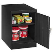 Tennsco 30 inch High Single Door Cabinet 19w x 24d x 30h Black