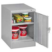 Tennsco 30 inch High Single Door Cabinet 19w x 24d x 30h Light Gray