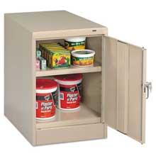 Tennsco 30 inch High Single Door Cabinet 19w x 24d x 30h Putty