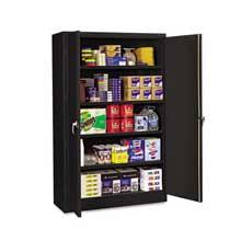 Tennsco Assembled Jumbo Steel Storage Cabinet 48w x 18d x 78h Black