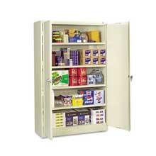 Tennsco Assembled Jumbo Steel Storage Cabinet 48w x 18d x 78h Putty