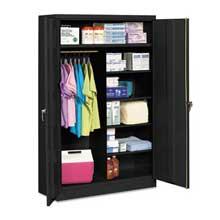 Tennsco Jumbo Combination Steel Storage Cabinet 48w x 24d x 78h Black